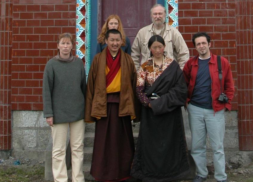 First school teacher and the project team in 2003
