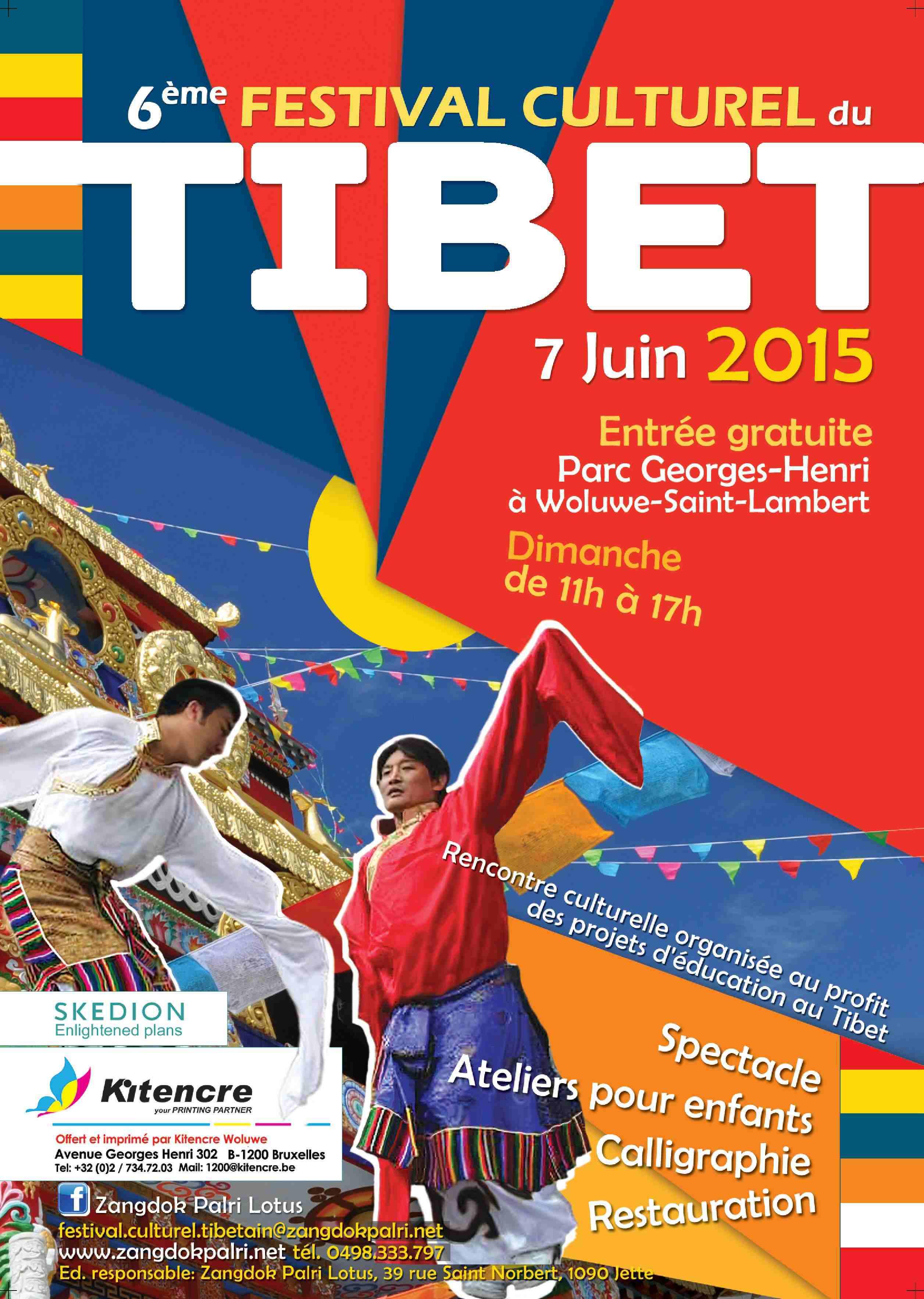 Poster Festival Cultural Tibet 2015